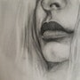 Pencil drawing of lips. Alna Poulose
