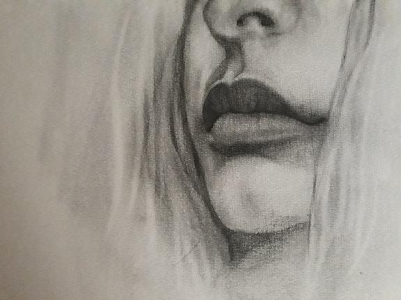 Pencil drawing of lips. Alna Poulose Alna Poulose