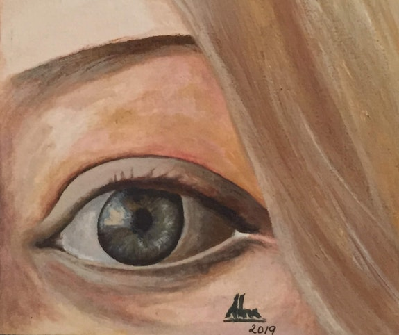 Water colour painting of eye. Alna Poulose Alna Poulose