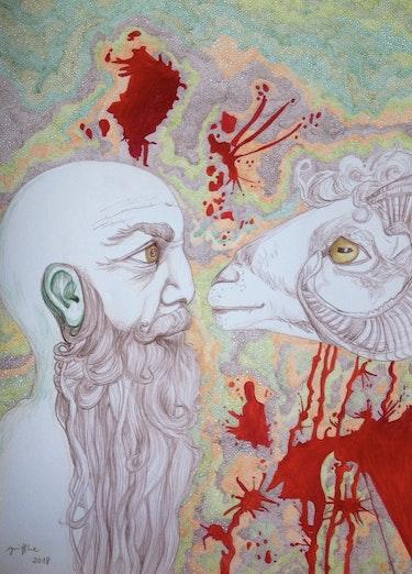 Abraham und der Widder. Vera Gniffke