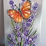 Papillon et lavande. Nicole Retureau