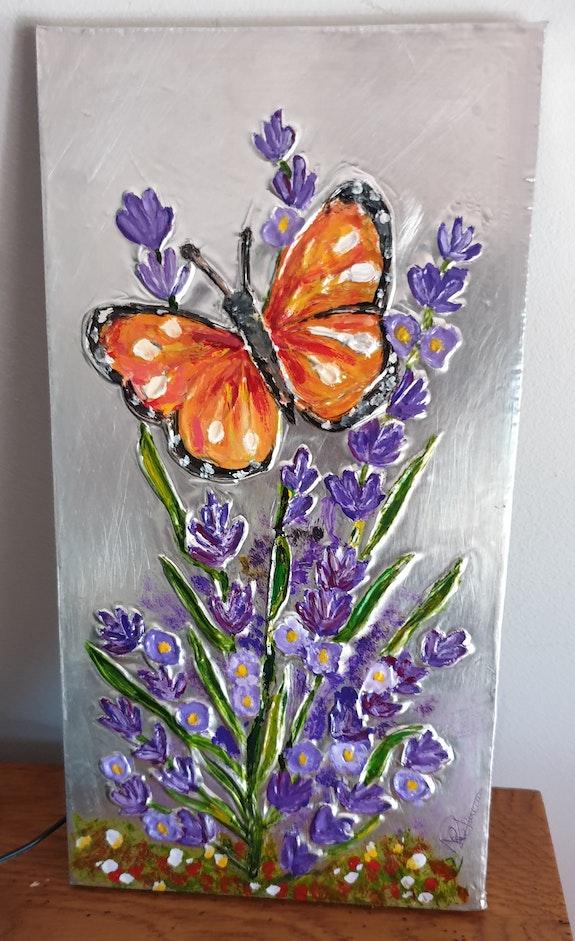 Papillon et lavande. Nicole Retureau Nicole Retureau