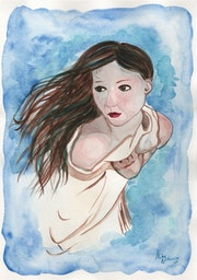 Fever Original Watercolor Painting. Fairychamber