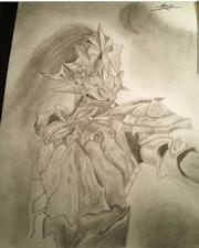 Dessin crayon fantaisie dark souls. R2Aphi