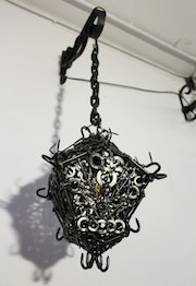 Welding / Contemporary sculpture : Iron lantern.. Jonathan Pradillon