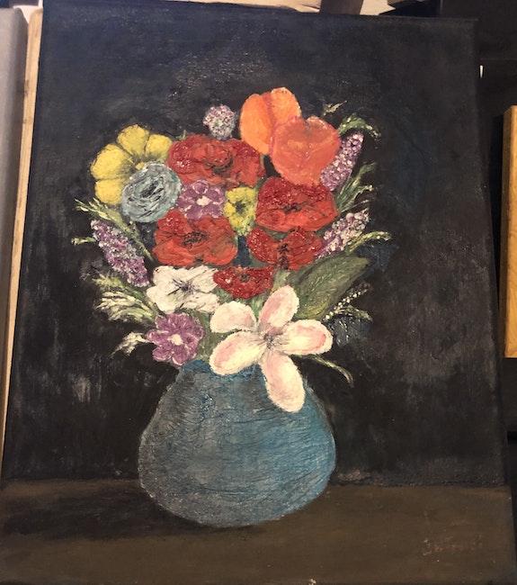 Pot de fleurs. Jean Marie Taddei Jean Marie Taddei