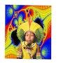 Pop art brazilian indian boy. Raonny Renno