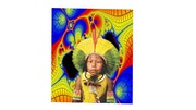 Pop art brazilian indian boy. Raonny Renno