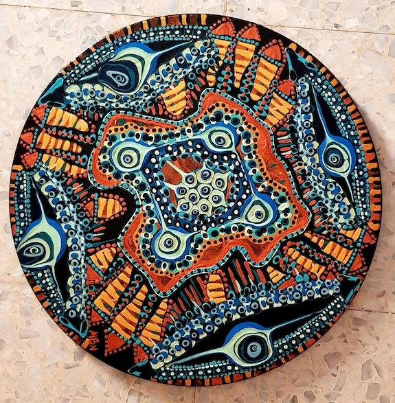 Mandala israeli painting art. Mirit Ben-Nun Mirit Ben-Nun