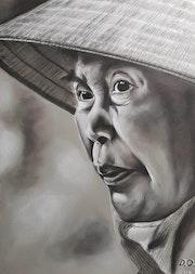 Portrait d'une femme asiatique.
