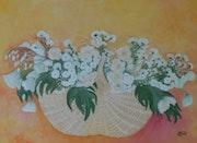 Fleurs blanches pour la mariée.