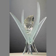 Sculpture verre et cristal. Christian Herry Sculpteur Verrier