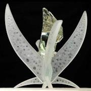 Sculpture verre et cristal.