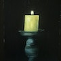 Yellow candle. Alna Poulose