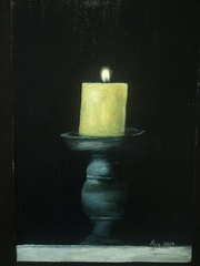 Yellow candle.