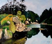 Bord de rivière. Andre Blanc