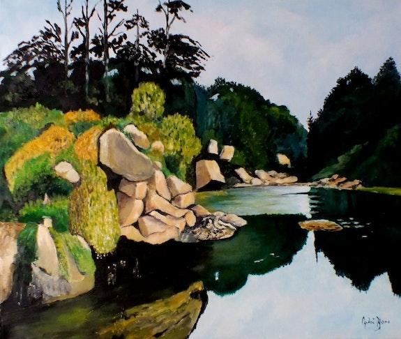 Bord de rivière. André Blanc Andre Blanc