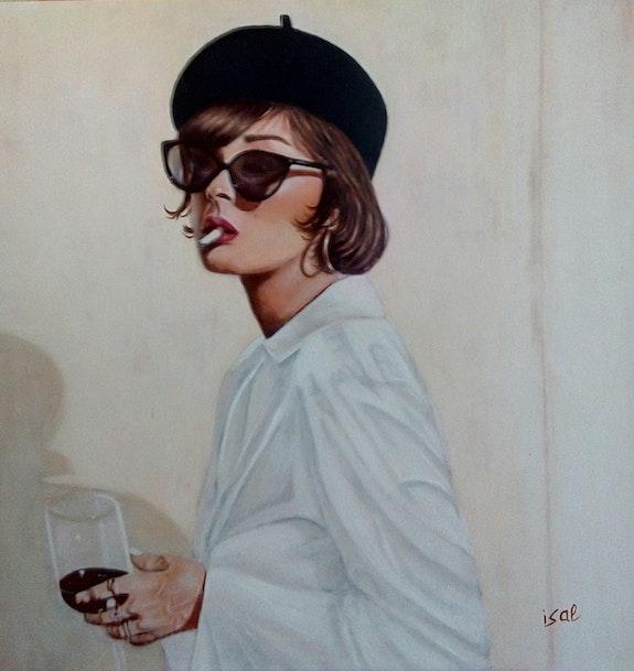 Le verre de vin.  Isabelle Leleu