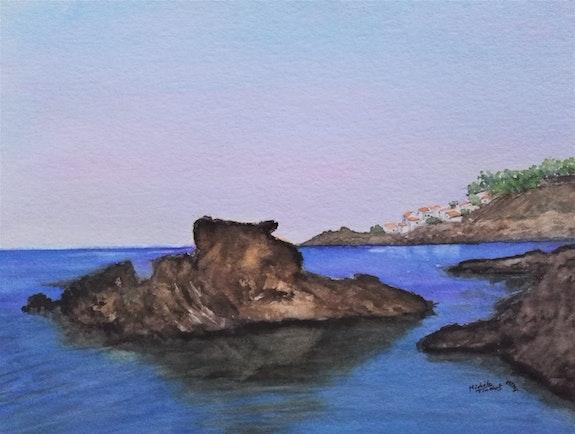 Vue sur lotissement «le Troc Pinell» à Banyuls sur mer. Michèle Truchot Mimi