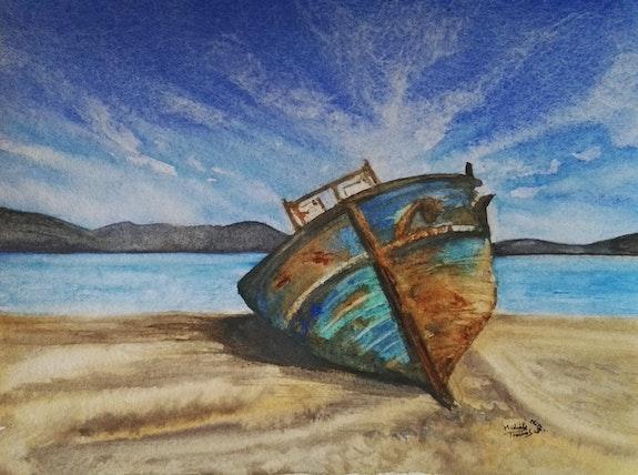 Epave de bateau. Michèle Truchot Mimi