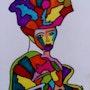Femme au chapeau. Dalva