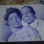 Portrait couple. Moïse Tshimpanga