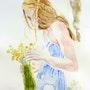 La jeune fille et le bouquet. Yokozaza