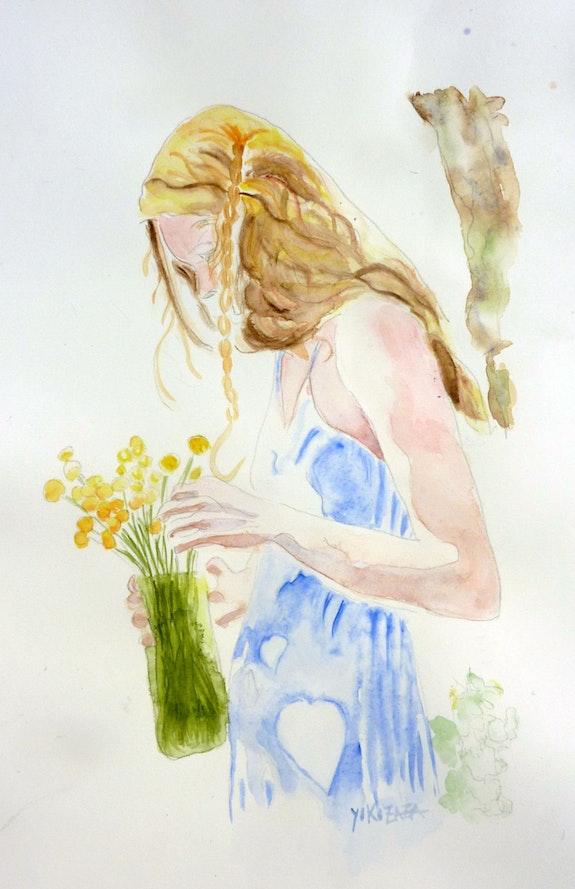 La jeune fille et le bouquet. Yokozaza Yokozaza