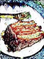 Trozo de pastel.