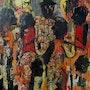 Black jazz orchestra. Jacques Donneaud