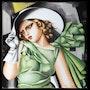 Copie de La jeune fille en vert de Tamara de Lempicka. K. Zi. Yak