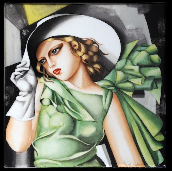 Copie de La jeune fille en vert de Tamara de Lempicka. K-Zi-Yak K. Zi. Yak