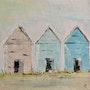 Cabanes de plage. Artpascalguillois