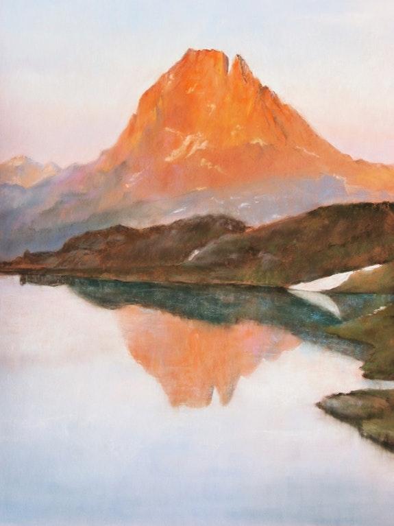 Coucher de soleil sur le Pic. Eliane Marque Eliane Marque