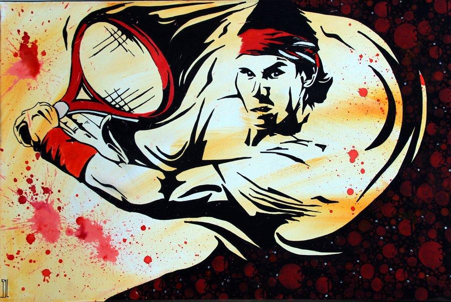 Rafael Nadal L Aquarelle Autrement Painters Artists
