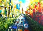 Serie: Traffic in Berlin - Summer in the City. U. V. Sohns