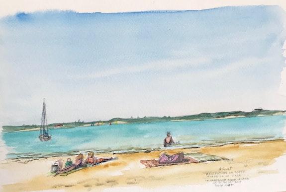 Occupations de plage. Alain Croset Le Trembladais Alain Croset
