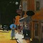 La femme à l'ombrelle d'apres kim english. Cesar Luciano
