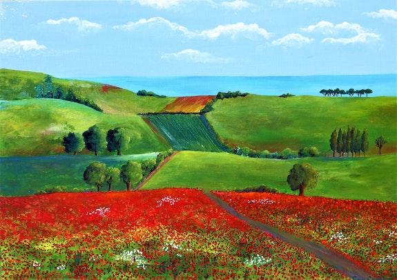 Hills and Poppies. Sara Spencer Sara Spencer