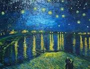 La nuit etoilee de van gogh. T. Me. S