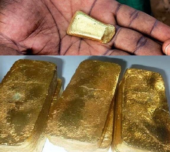 Vente d'or en poudre et en Lingot. Sterling Jack Sterling