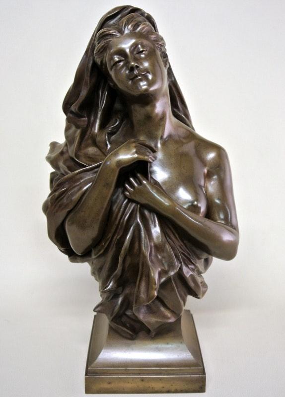 Buste en bronze. Anne De Rochechouart De Mortemart (Alias Manuela) Marc Menzoyan Antiquités