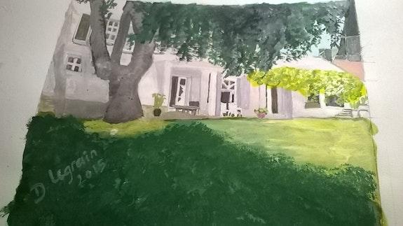 La pelouse.  Danièle Legrain