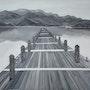 Pont sur lac. Nadège Lehain