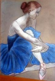La ballerine au tutu bleu. Lacharielle