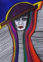 Israeli artist modern art drawings Mirit Ben-Nun. Mirit Ben-Nun
