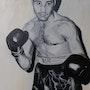 Robert Cohen - boxeur français - Champion du monde de poid Coqs en 1954. Wictoria Hel