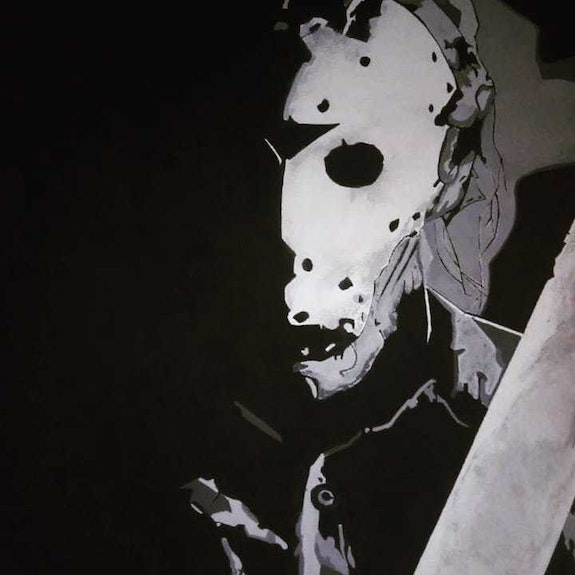 Friday the 13th Jason Voorhees painting. Andrew Allen Artistandrew