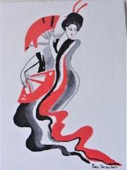 Geisha aux éventails.