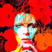 Flower Power Bowie Warhol Pop Art 2019. Tommy Dollar
